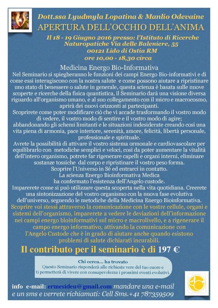 apertura riprogramma il dna roma giugno